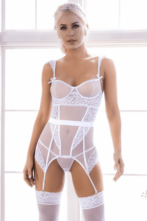 I Do Mesh & Lace Merry Widow