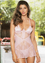I Want Your Love Lace Chemise & Thong Set