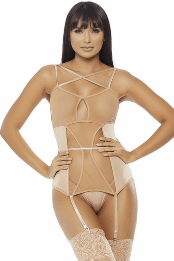 In The Buff Bustier & Thong Set