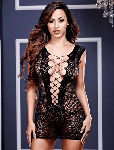 In The Moment Fishnet Chemise