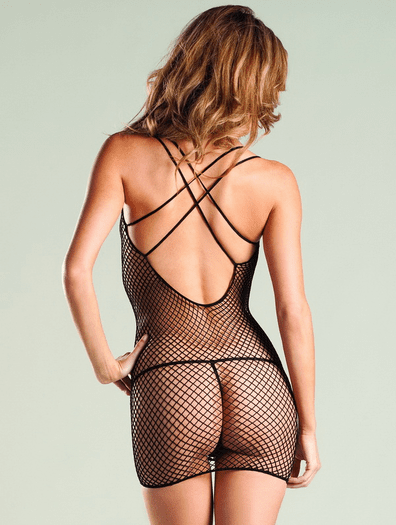Industrial Net Sexy Bodystocking Dress