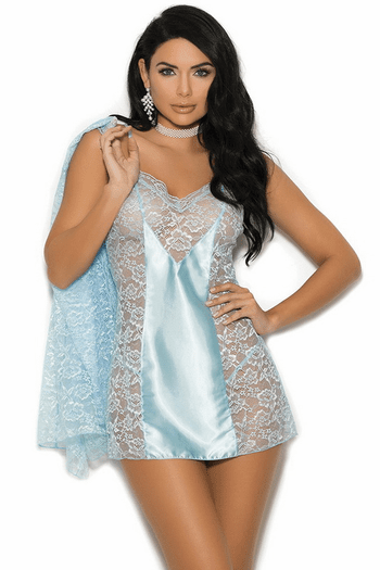 Irreplaceable Lace Chemise & Robe Set