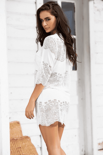 Ivory Cover Up Dress