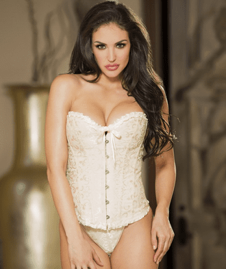 Ivory Intoxication Strapless Corset & Thong Set