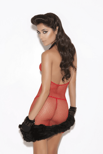 Keeps Getting' Better Sexy Net Dress
