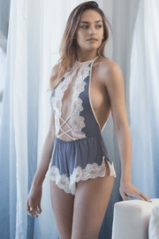 Keyhole Lace Teddy Romper