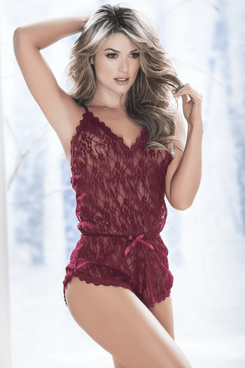 Kiss Me In Bed Lace Romper