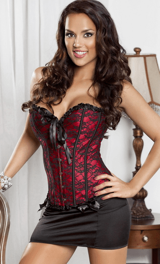 Kiss You All Over Corset and Skirt Set