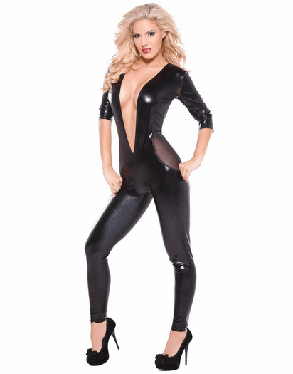 Kitten Collection Sexy V Neck Catsuit