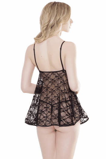 Lace Accent Babydoll