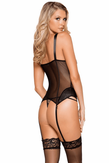 Lace and Satin Bustier Set
