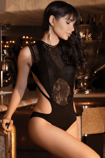 Lace Backless Teddy