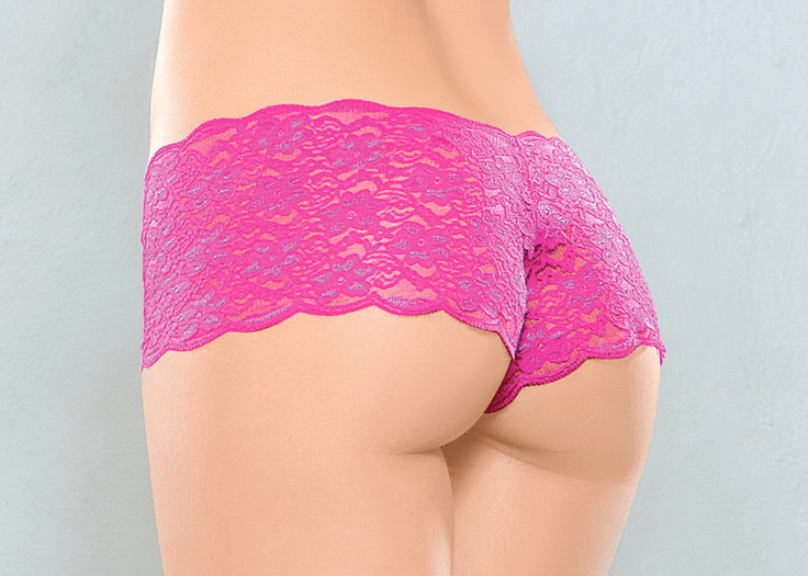 Lace Boy Short Panty Three Pack Set