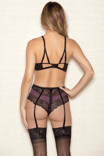 Lace Bra & High Waist Panty Set
