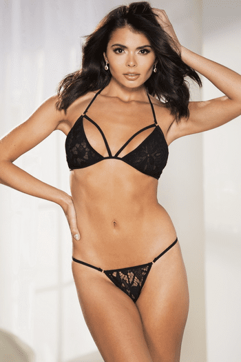 Lace Bra, Panty, & Robe Set