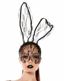 Lace Bunny Ears With Mask