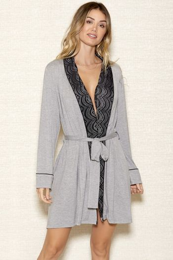 Lace Collar Robe