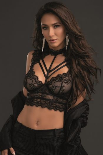 Lace Collared Bustier & Skirt Set