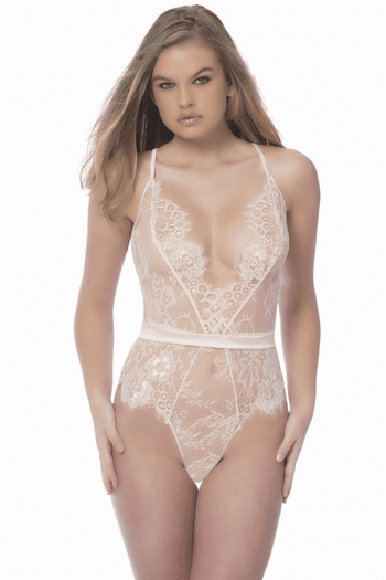 Lace Cross Back Teddy