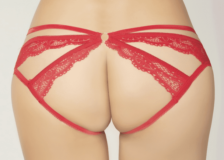 Lace Crotchless Cut Out Panty