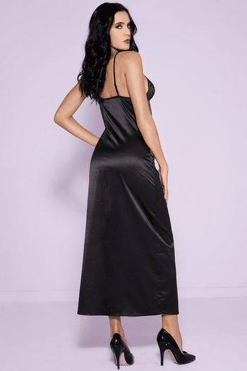 Lace Cup Satin Gown