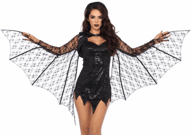 Lace Extendable Bat Wing Shrug