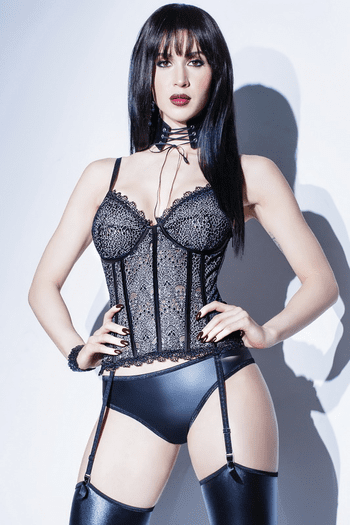 Lace Gartered Bustier