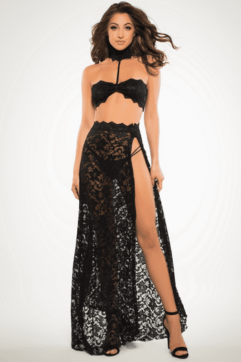 Lace Harness Top & Skirt Set