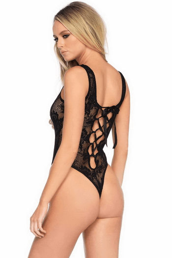 Lace High Cut Teddy