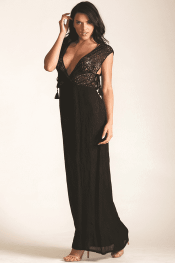 Lace Maxi Cover Up Dress
