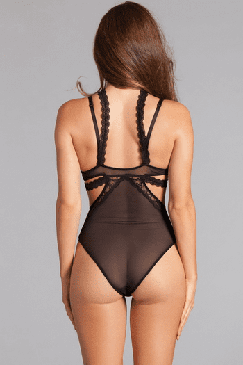 Lace Mesh Collared Teddy
