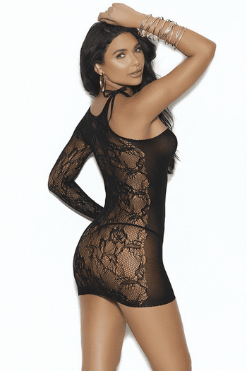 Lace & Opaque One Sleeve Chemise