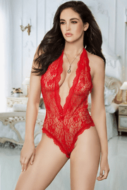 Lace Open Crotch Teddy