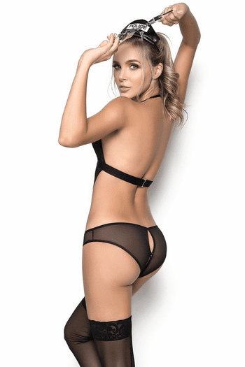 Lace Police Lingerie Costume