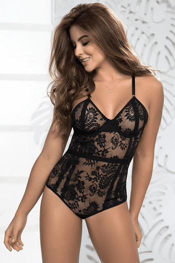 Lace Strappy Back Teddy
