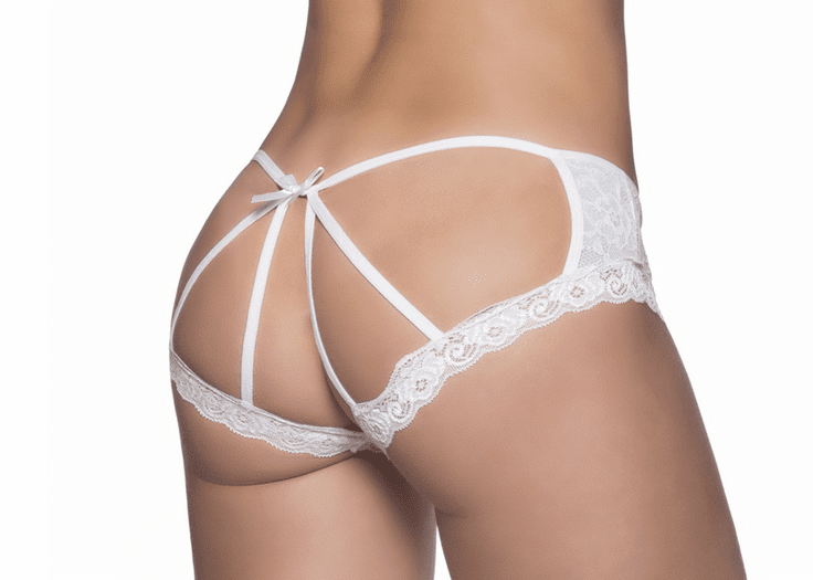 Cage Back Lace Strappy Panty