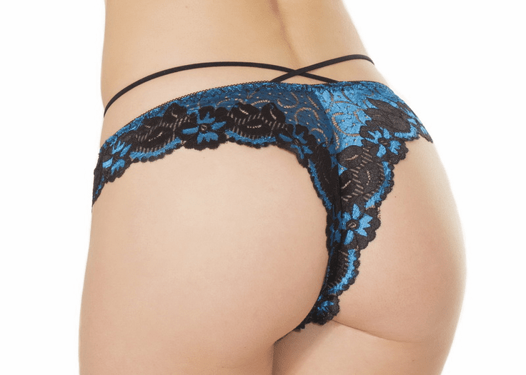 Floral Lace Strappy Panty