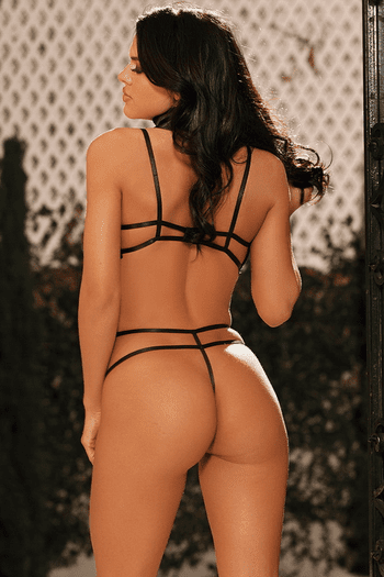 Lace Strappy Teddy