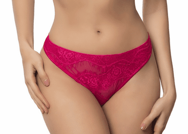 Bight Red Lace Thong