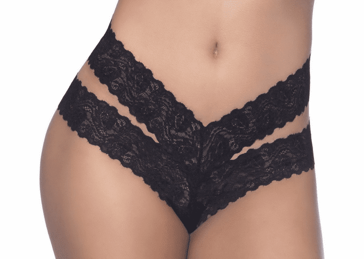 Lace Tie Thong