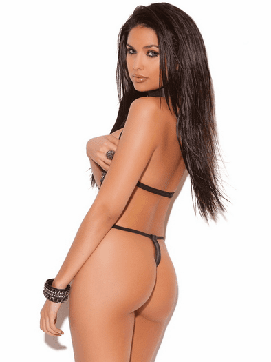Lacy Cupless Thong Teddy