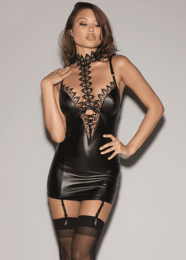 Latching On To You Gartered Chemise