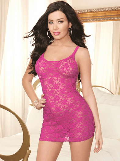 Late Night Love Lace Chemise & Thong Set