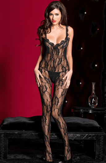 Late Time Lover Lace Crotchless Bodystocking