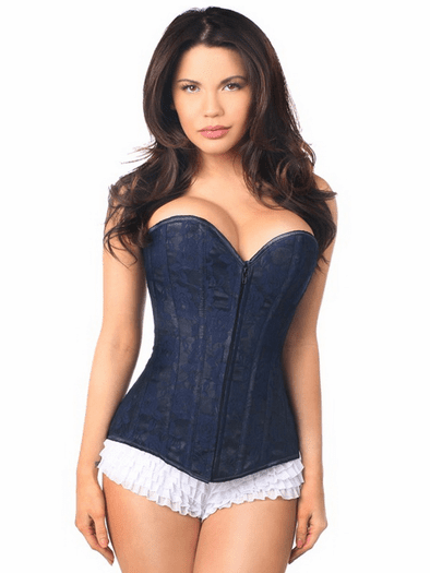 Lavish Navy Over Bust Corset