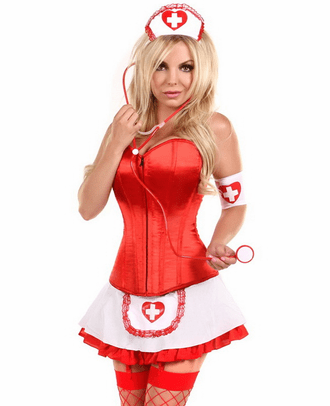 Lavish Sexy Pin Up Nurse Costume