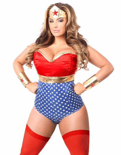 Lavish Sexy Super Hero Corset Romper Costume