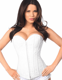 Lavish White Bridal Full Bust Corset