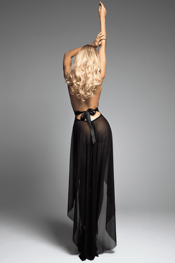 Le Reve Black Lace Nightdress