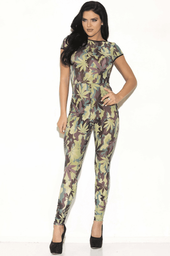 Leaf Printed Jumpsuit